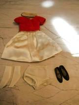 1964 Mattel BARBIE-SKIPPER #1904 Silk N Fancy Outfit Complete Excellent !! - $49.45