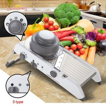 Manual Vegetable Cutter Slicer 4 Gear Adjustment Tools Kitchen Stainless... - €41,60 EUR