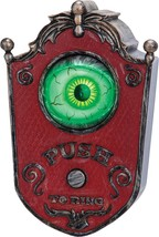 Doorbell Eyeball Prop Animated Sounds Haunted House Unique Creepy SS57622G - $44.99