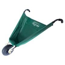 Outdoor Garden Cart Folding 3 cu ft in Green Collapsible Wheelbarrow Fab... - $97.19