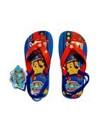 PAW PATROL MARSHALL & CHASE Boys Flip Flops w/ Optional Sunglasses Beach... - £7.93 GBP+