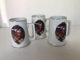 "Lot of 3 Christmas Mugs Haddon Sundblom Coca-Cola 1996 Collectors Ed. 4 1/2"" t - $14.84"