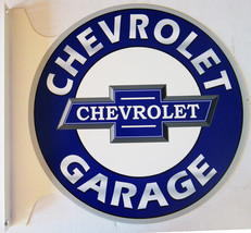 "Chevrolet Garage Flange Sign 19"" Wide by 18"" Tall - $99.95"