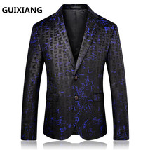 "2017 autumn British style Men""s suits casual fashion printing blazer men... - $130.90"
