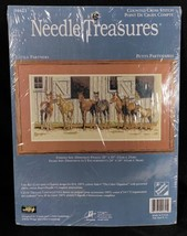 Needle Treasures Little Partners Counted Cross Stitch KIT Horse Stables ... - $49.49