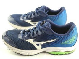 Mizuno Wave Rider 19 Running Shoes Womens Size 5.5 Blue White Athletic S... - $27.00