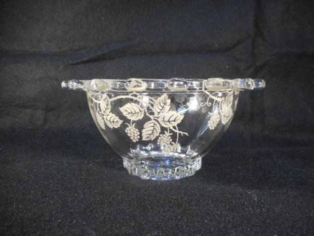 Vintage Heisey Lariat Mayonnaise Bowl with Silver Overlay