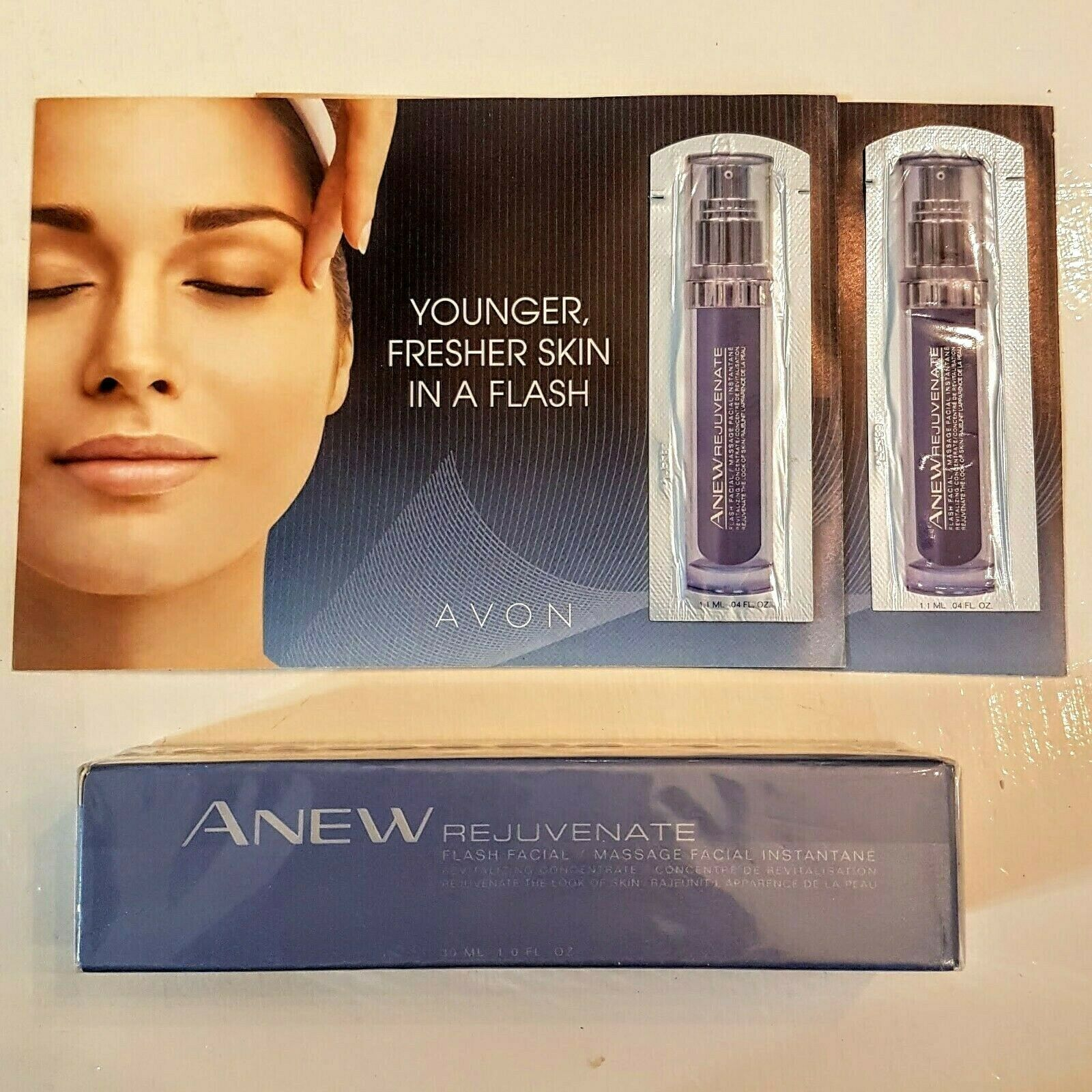 Primary image for AVON Anew Rejuvenate Flash Facial Massage Treatment + extra NEW Sealed Old Stock