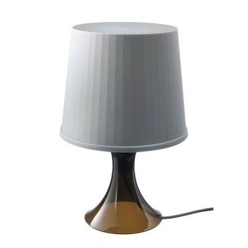 "IKEA LAMPAN Table lamp with LED bulb, brown, gray, 18 """