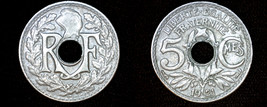 1921 French 5 Centimes World Coin - France - $5.99