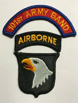 101st Airborne Division, 101st Army Band, Shoulder Patch, Airborne Tab And Arch - $7.80