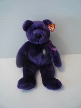 TY Beanie Baby Buddy 1998 PRINCESS DIANA Purple Bear RARE RETIRED MINT - $19.79