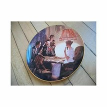 Edwin Knowles Collector Plate Norman Rockwell Light - $4.94