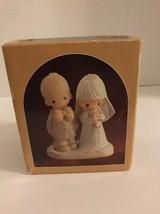 Enesco Precious Moments 1980 Porcelain Bisque Bride & Groom 1980 Vintage - $9.49