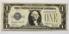 1928 B $1 Silver Certificate Note One Dollar Z04923794B Funny Back Exper... - $89.09