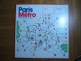 Vintage Paris Metro Board Game 1981 - $24.19