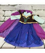 Doll Dress Disney Frozen Anna Outfit Dress & Cape - $17.82