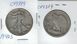 1942 S Walking Liberty Half Dollar Actual Photo of Coin CP9399 - $13.95