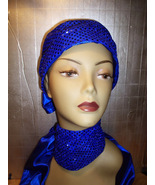 ROYAL BLUE CAP AND MATCHING SCARF SET - $14.95