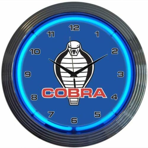 "Primary image for Ford Cobra Neon Clock 15""x15"""