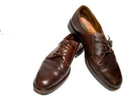 Cole Haan Mens 11M Brown Pebbled Leather Plain Toe Derby Dress Work Casu... - $25.98