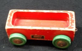 Pre Magnetic 'Brio' Rail Car  with Green Wheels - Made in Sweden - NR - $14.95
