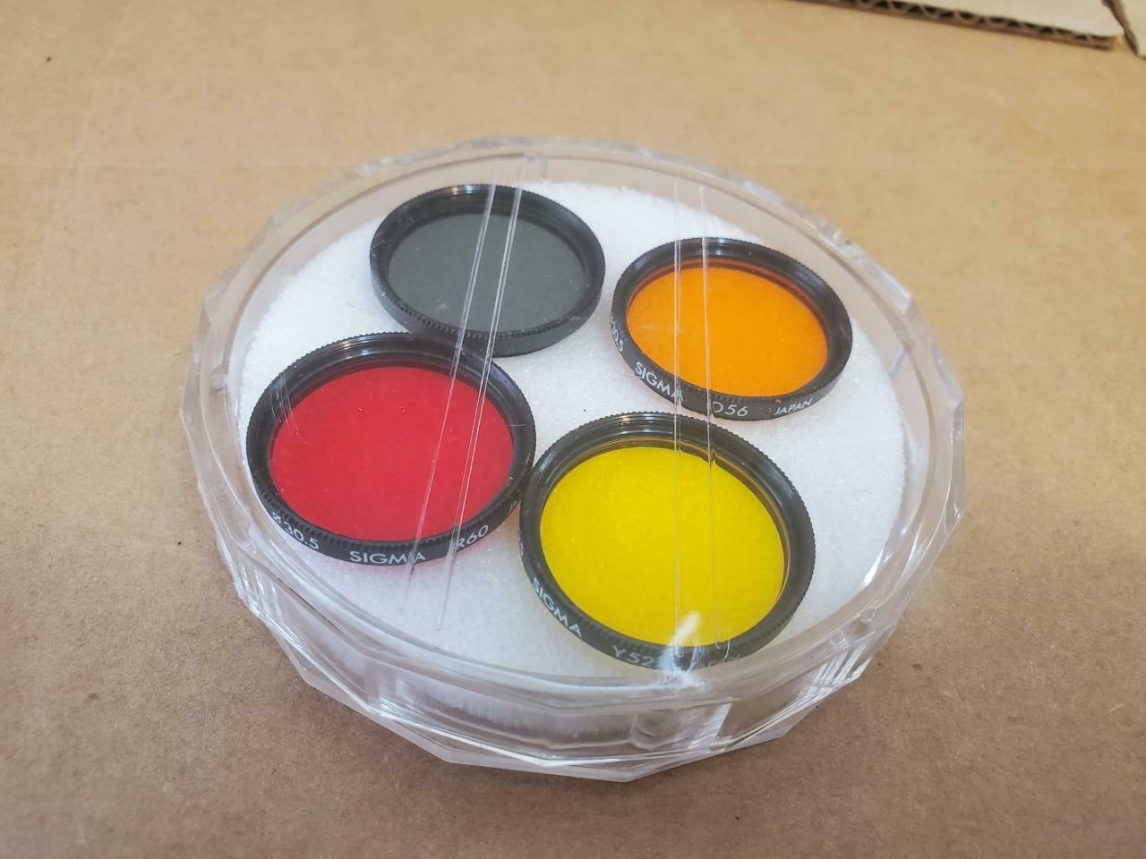 SIGMA 30.5 COLOR FILTER SET (R60 O56 Y52 ND4X) (( - $28.04