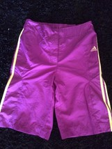 new ADIDAS girls youth WOVEN SHORTS kids sz XL 13-14 years gym basketbal... - $16.90