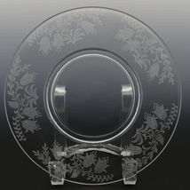 Tiffin Fuchsia Elegant Glass Plate Luncheon Plates a set of 8 image 4