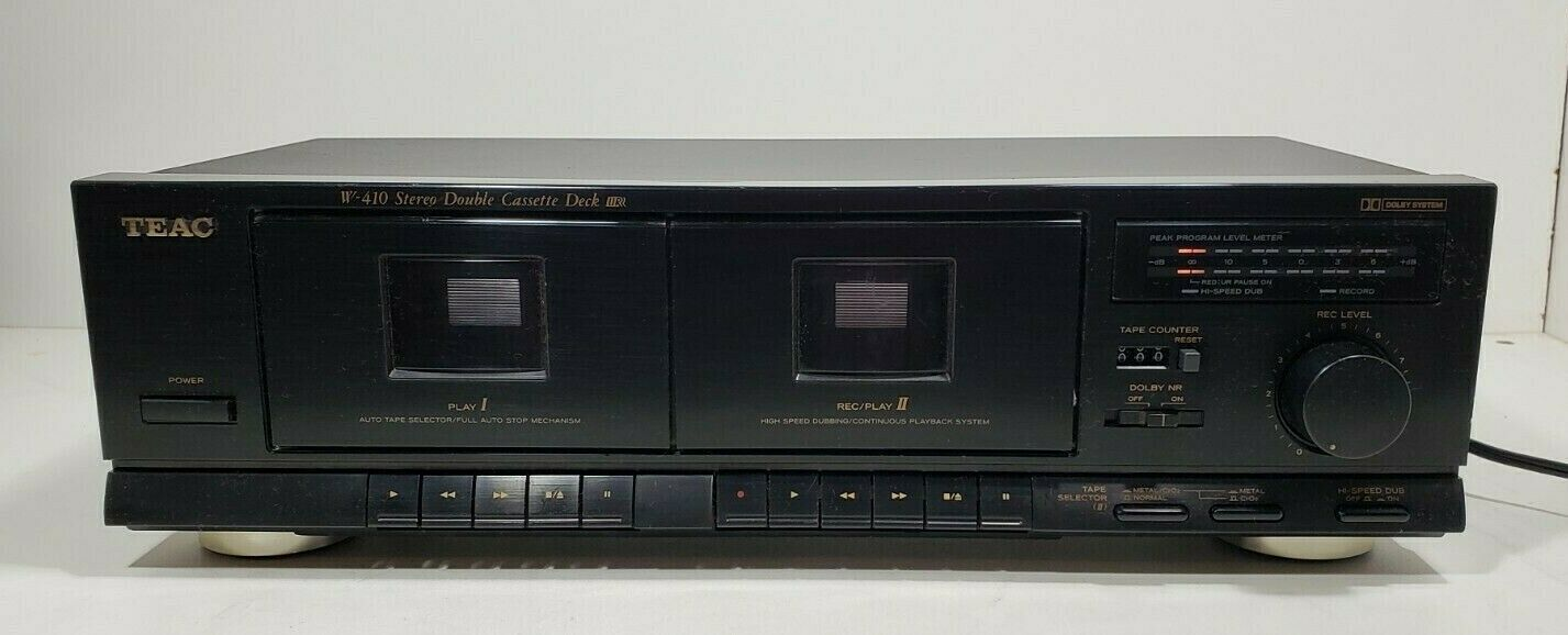 TEAC Stereo Double Cassette Deck W-410..Tested