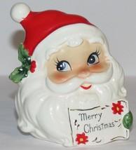 Vintage Josef Original Merry Christmas Santa Ce... - $14.69