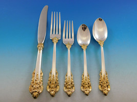 Grande Baroque Gold Accent by Wallace Sterling Silver Flatware for 8 Set... - $2,925.00