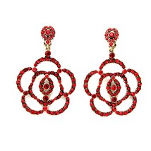 The Cats Pajama Rossane Scarlet Clip-On Statement Earrings - $50.00