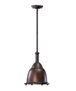 Quorum 805-10-86 Signature 1 Light 11 inch Oiled Bronze Pendant Ceiling ... - $139.54