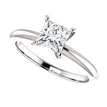 0.25 Carat DEF VS2 Princess Cut Diamond Solitaire Ring  - $350.00
