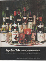 1972 Yago Sant Gria Vintage print magazine advertisement - $14.00