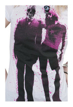 Famous Stars & Straps White Pink Mr. President Juniors Crew Tee T-Shirt image 2