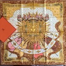"Hermes Scarf CARPE DIEM Silk 90 cm with Box Brown Carre 35"" Shawl NEW - $328.23"