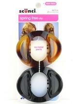 SCUNCI SPRING FREE NO METAL HAIR CLIP - TORTOISE/BLACK - 2 PCS. (38272-A) - €6,20 EUR