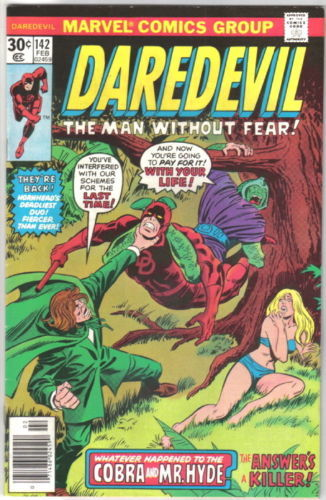 Daredevil Comic Book #142 Marvel Comics 1977 VERY FINE