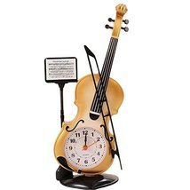 George Jimmy Creative Alarm Clock Fashion Wake Up Alarm Clocks -Violin 01 - $21.91