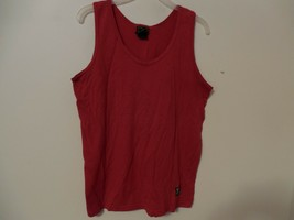 Women's Tank Top solid Red sleeveless Medium USA Top - $3.94