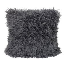 Fennco Styles Luxury Genuine Mongolian Lamb Fur Down Filled Decorative T... - $98.99