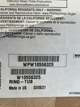 WPW10556325 Whirlpool Tub Ring OEM WPW10556325 Brand New IN Box  - $49.50