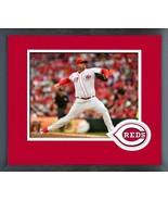 Sal Romano 2018 Cincinnati Reds #47 -11x14 Team Logo Matted/Framed Photo - $43.55