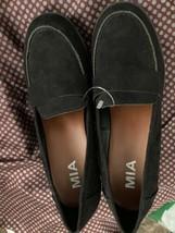 MIA Chunky Heel Platform Loafer Shoes Women's 6 Black Upper Retro - $13.85