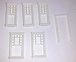 Precious Places Magic Key Mansion REPLACEMENT Rectangle Windows x5 & Door Arch - $19.80