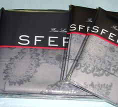 Sferra NATISSA Queen 3 PC. Duvet Cover Indigo Blue Egyptian Cotton Sateen New - $559.90