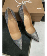 NIB 100% AUTH CHRISTIAN LOUBOUTIN SO KATE GLITTER DISCO PUMPS SZ 36.5 $675 - $494.01