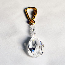 Crystal Oval Drop Keyring image 3